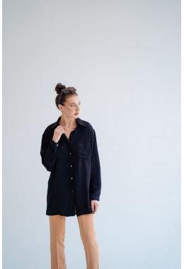 Рубашка oversize черная