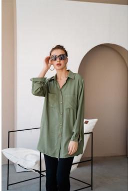 Рубашка oversize хаки