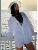 Рубашка oversize белая