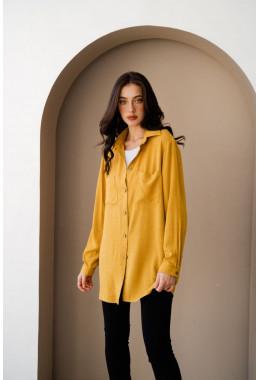 Рубашка oversize горчичная