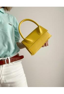 Яркая модная сумка желтого цвета