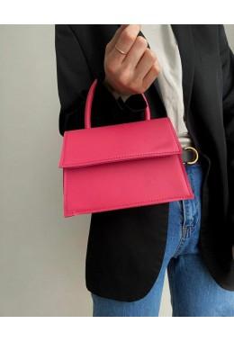 Оригинальная малиновая сумочка