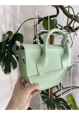 Модная маленькая сумка мятного цвета