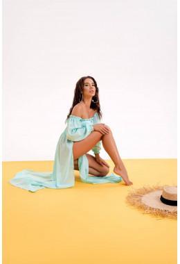 Пляжный костюм мятного цвета