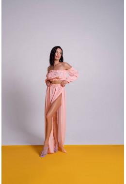 Пляжный костюм персикового цвета