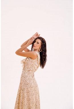 Очень красивое платье в пол молочного цвета