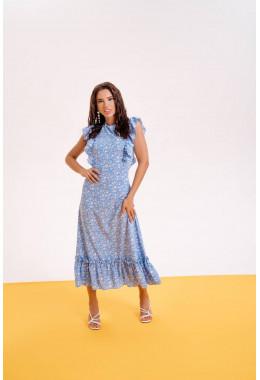 Очень красивое платье в пол голубого цвета