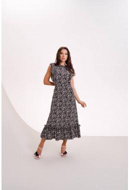 Очень красивое платье в пол черного цвета