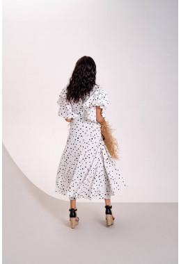 Платье на запах белое