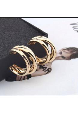 Модные серьги под золото