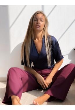 Блуза на запах шелковая