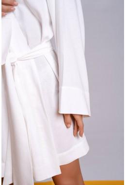Платье кимоно короткое белого цвета