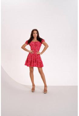 Мини платье красного цвета