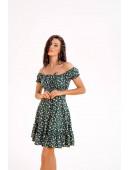 Мини платье зеленого цвета