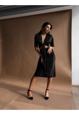 Утонченная юбка черного цвета