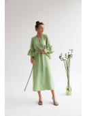Изящное миди платье оливкового цвета