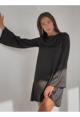 Шелковое платье черного цвета