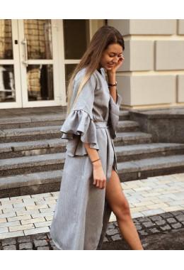 Универсальное платье-кардиган серого цвета