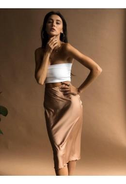 Утонченная юбка золотого цвета