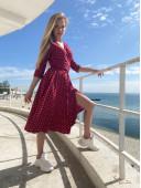 Романтическое вишневое платье