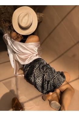 Утонченная юбка в леопардовом принте