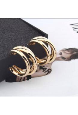 Красивые золотистые серьги