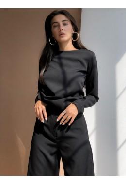 Оригинальный черный брючный костюм