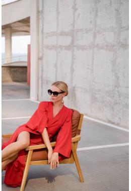 Платье кимоно красное
