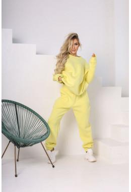 Штаны спортивные oversize желтого цвета