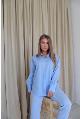 Стильная рубашка голубого цвета