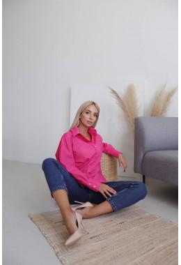 Стильная рубашка розового цвета