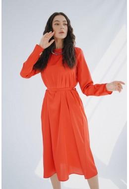 Очень красивое яркое коралловое платье