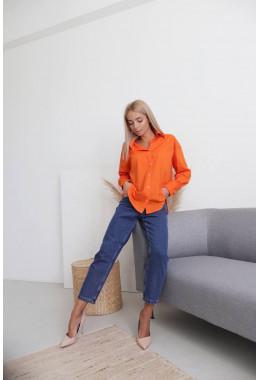 Стильная рубашка оранжевого цвета