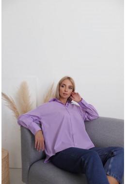 Стильная рубашка лавандового цвета