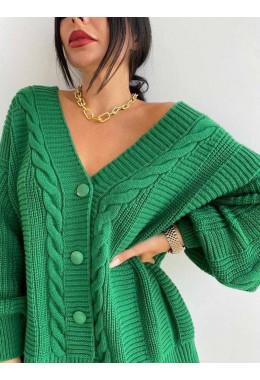 Кардиган зеленый