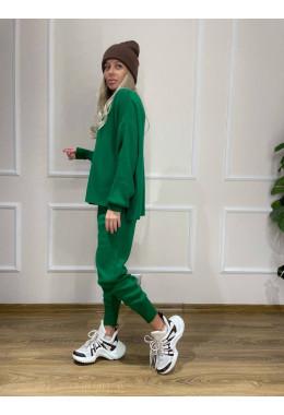 Костюм вязанный зеленый