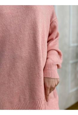 Приятный теплый свитер пудровый
