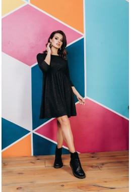 Теплое платье из ангоры черного цвета