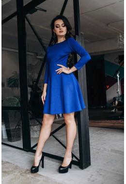 Шикарное платье с открытой спиной синего цвета