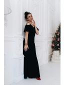 Вечернее платье в пол черного цвета