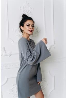 Мини платье с расклешенными рукавами
