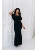 Оригинальное вечернее платье в пол черное