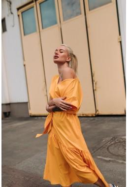 Нежное желтое яркое платье
