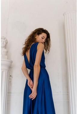 Шелковое платье в пол