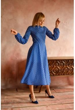 Милое яркое гороховое платье