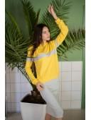 Костюм со свитшотом и юбкой желтый