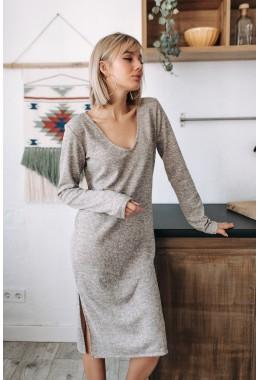 Экстравагантное теплое платье