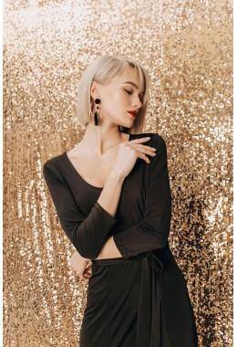 Вечернее платье с разрезами черного цвета