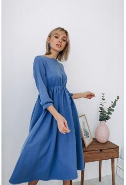 Стильное платье цвета под джинс