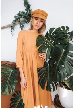 Терракотовое стильное платье